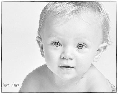 one year baby photo